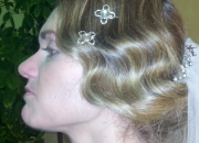 Victorian wedding updo